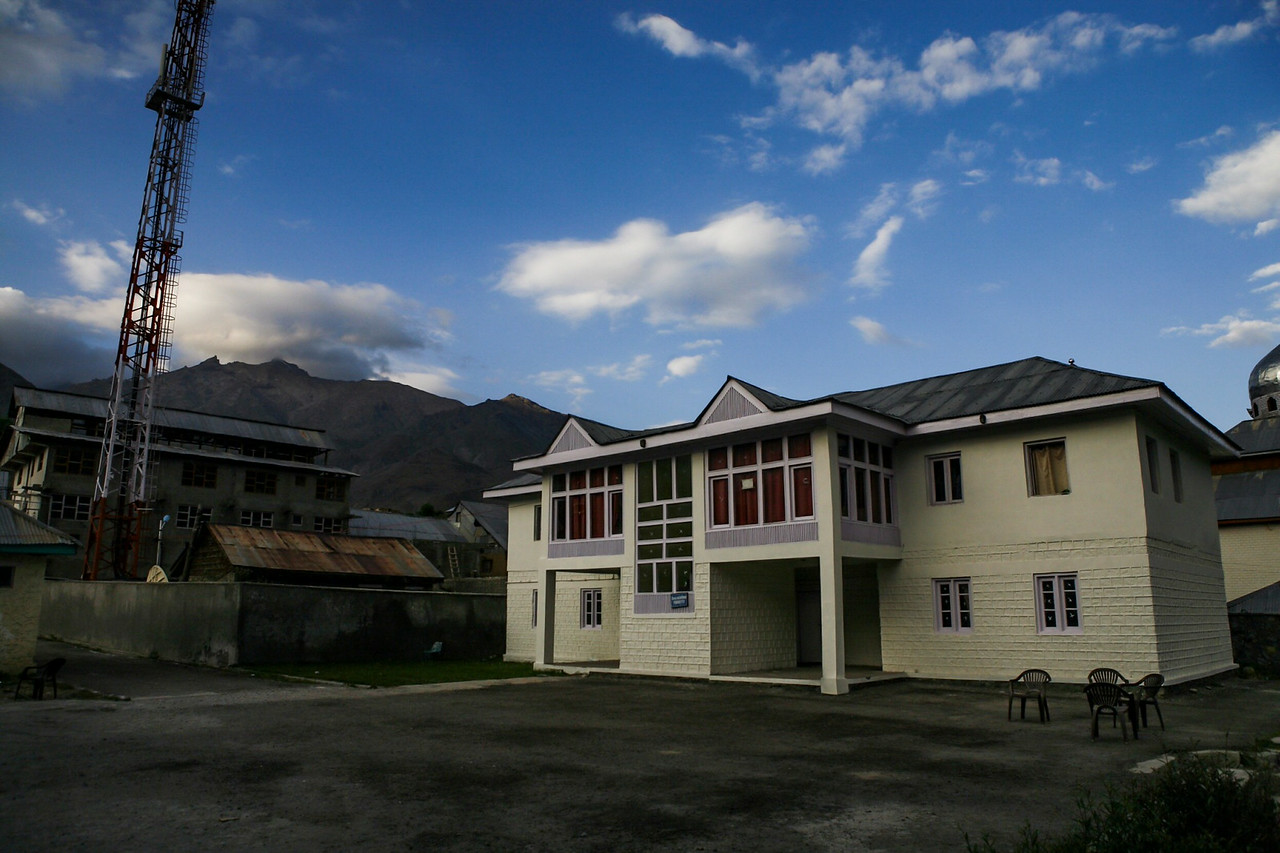 Tourist accommodation at Dras, Kargil, India