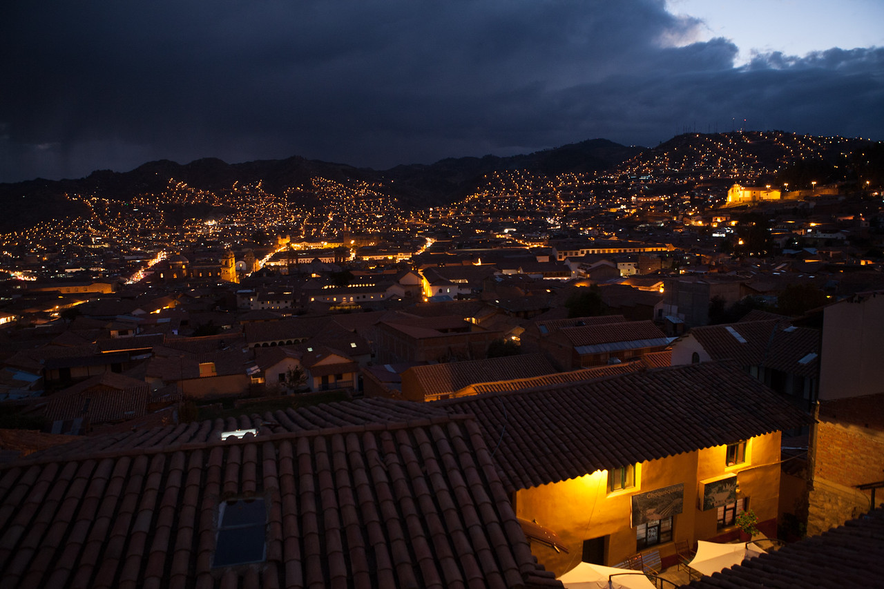 Night view of Cusco; Peru