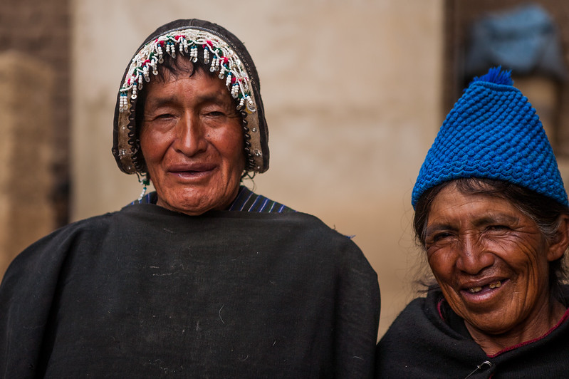 A Quechua couple from Tarabuco, a village near the capital city of Surce, Bolivia
