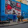 Artists performing near Santa Teresa, Rio de Janeiro, Brazil
