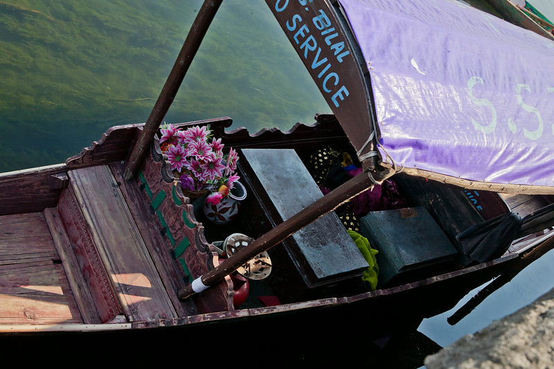 A floating photo studio at Dal lake, Srinagar, India