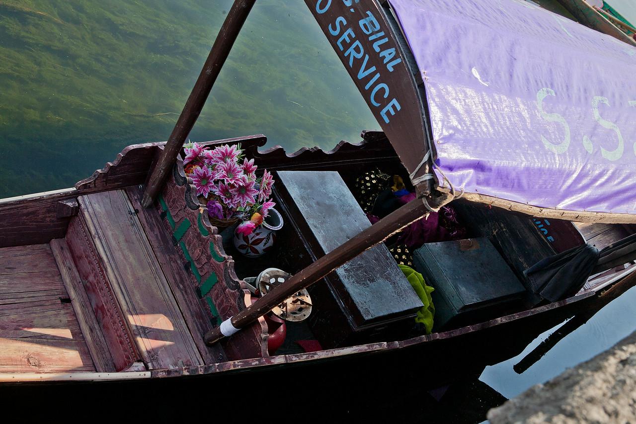 A floating photo studio at Dal lake, Srinagar, India