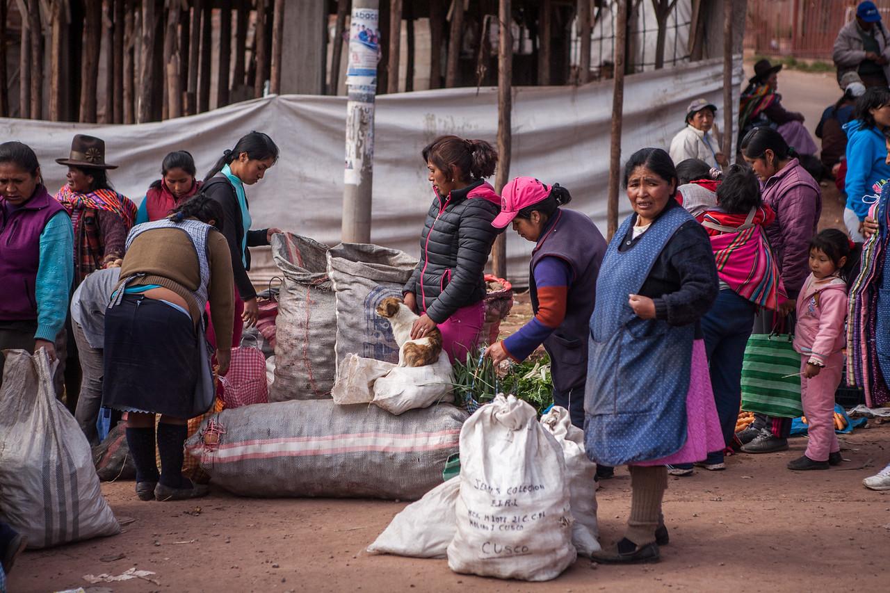 Markets on the outskirts of Cusco, Peru