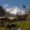 View of Nun peak from Panikhar in Suru valley near Kargil, India