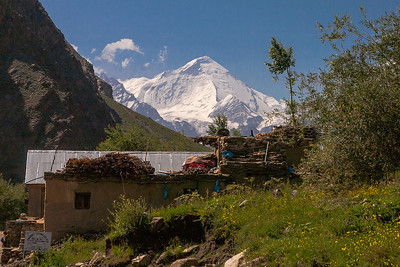 View of Nun peak from Panikhar in Suru valley, India