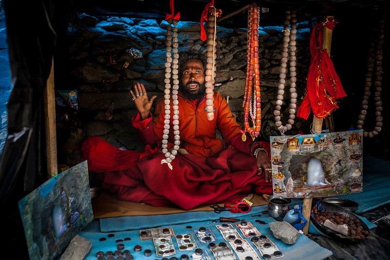 Sadhu at Amarnath in Kashmir, India