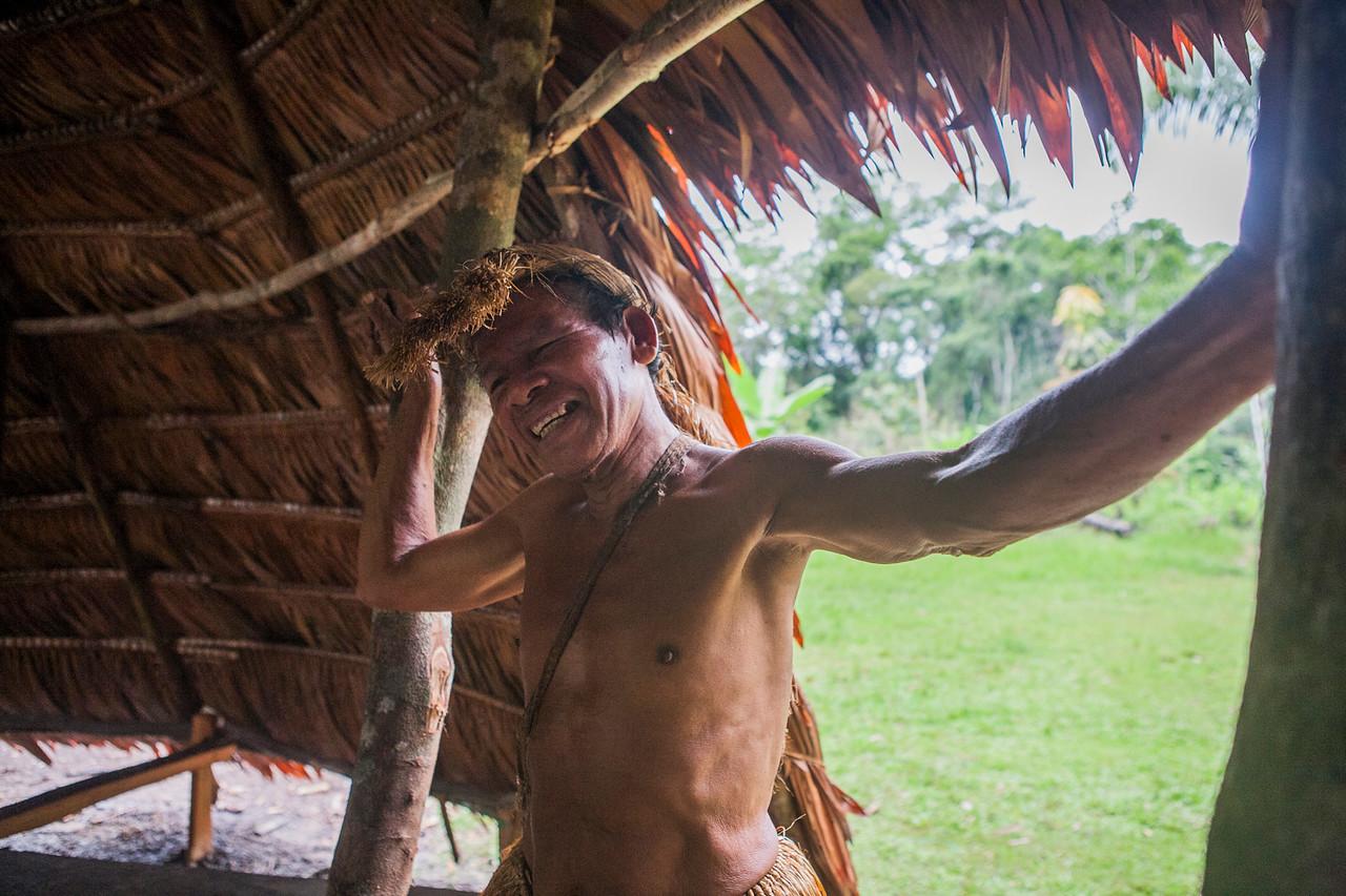 A Yagua leader, Peru