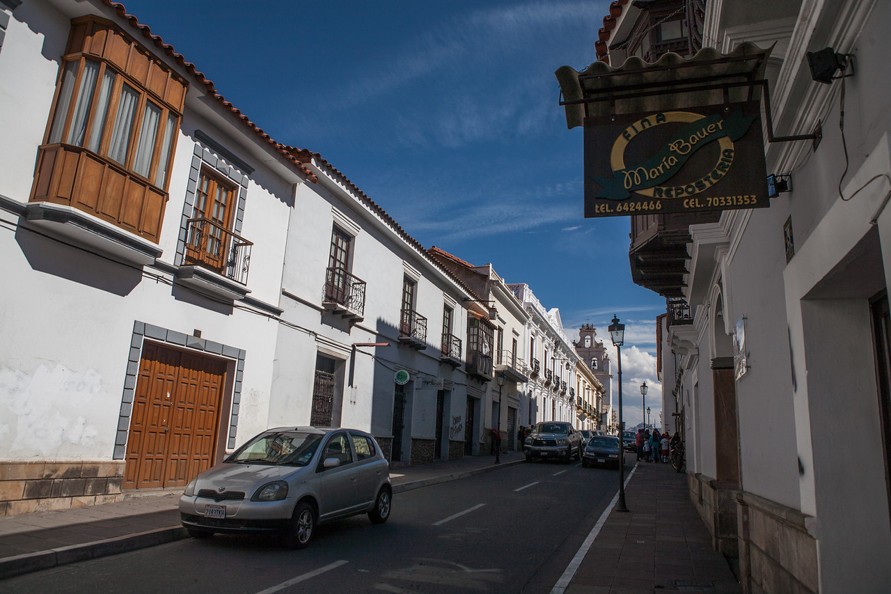 White buildings in the heritage city of Sucre, Bolivia