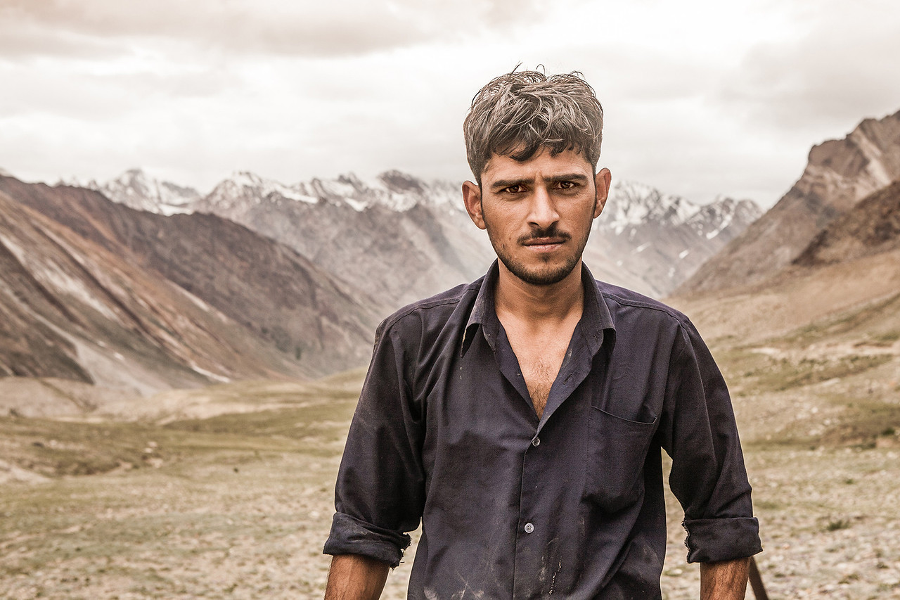 The truck driver who drove us to Zanskar, India