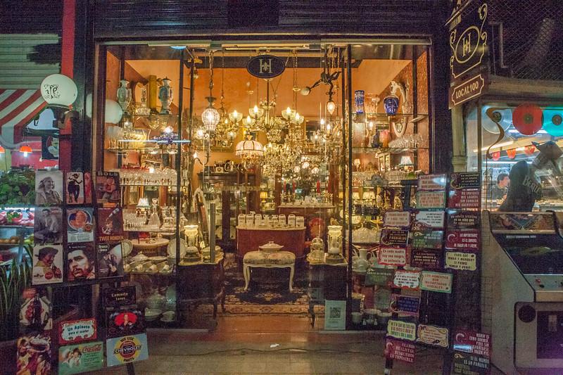 Vintage shops in San Telmo, Buenos Aires, Argentina