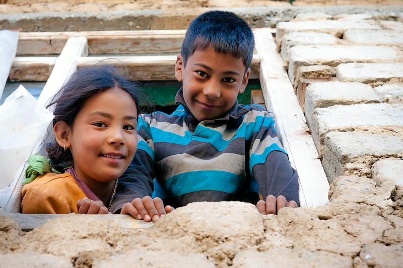Siblings from Dras, Kargil, India