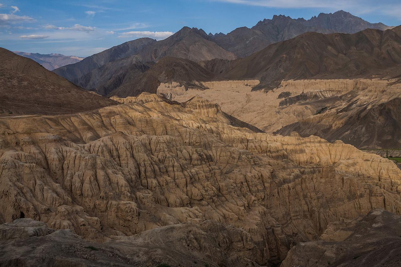 Moonlike landscapes at Lamayuru, Ladakh, India