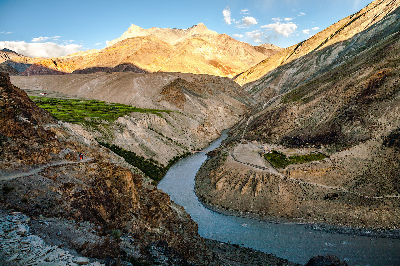 Cha village enroute Phuktal, Zanskar, India