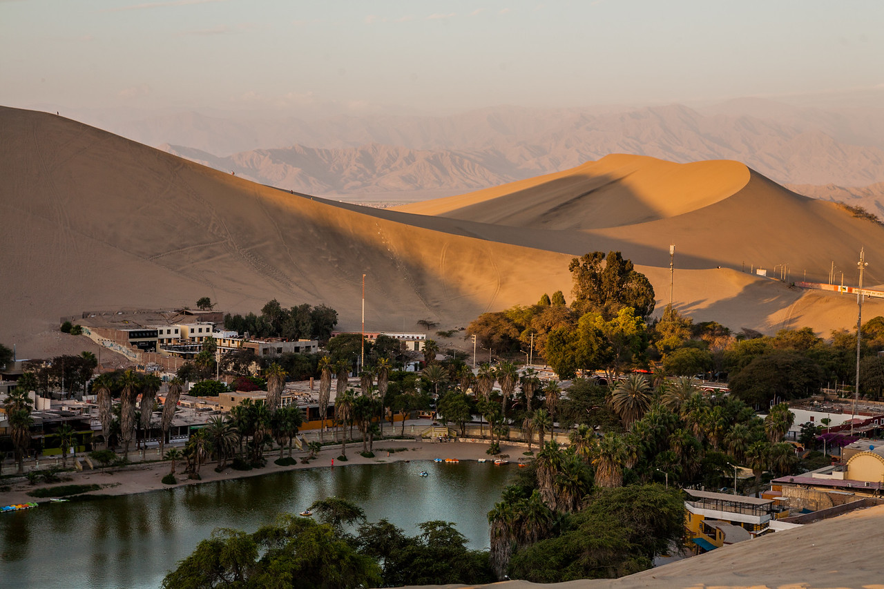 Desert oasis of Huacachina, near Ica, a city in Peru