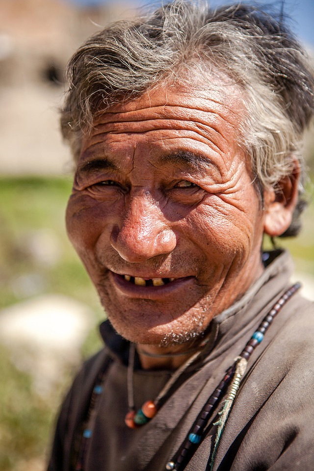 Man from Korzok near Tso Moriri, a mountain lake in Ladakh, India