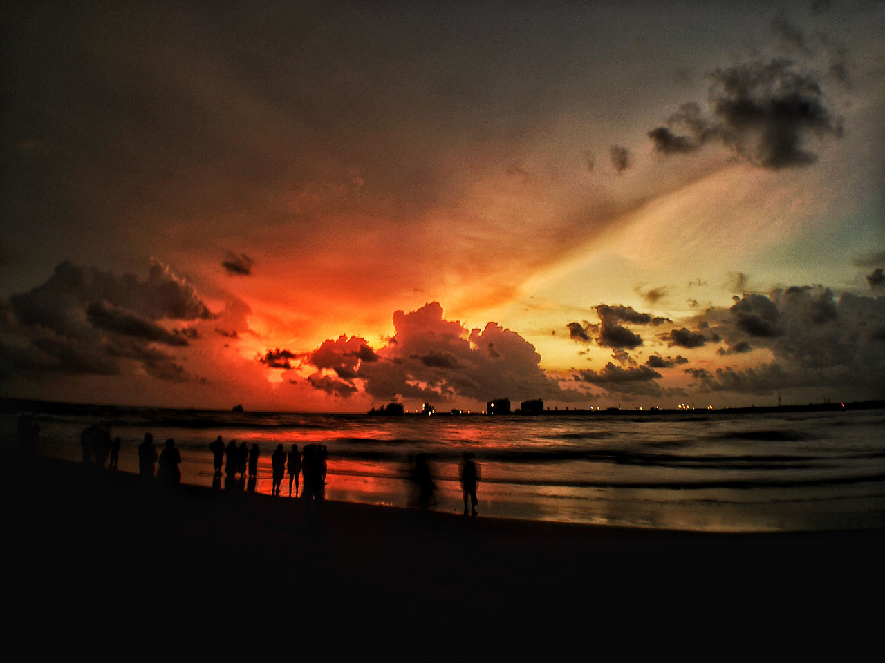Sunset at the beach in Fort Kochi, Kerala