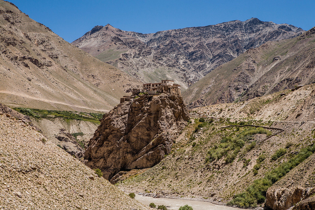 Landscape around Bardan Monastery, Zanskar, India