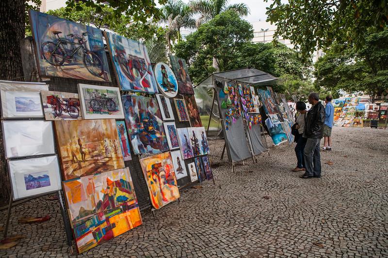 Ipanema street art fair, Rio de Janeiro, Brazil