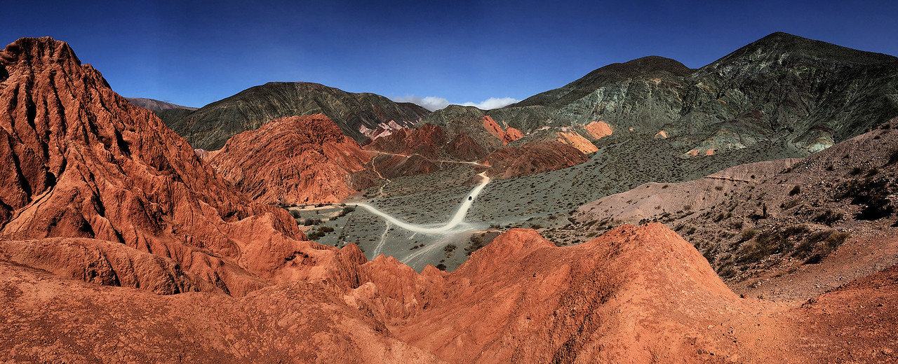 Red mountains in Purmamarca, Jujuy province of northwest Argentina