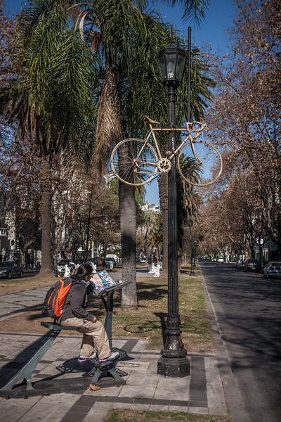Main avenue in Rosario, Argentina