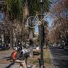 Main avenue in Rosario, Argentina