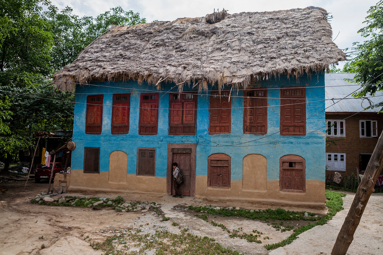 A house in Kolam Chinar, village with  the sulphur springs in Kashmir