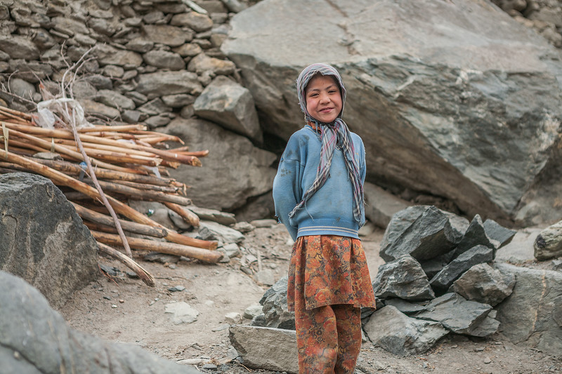 A young girl from the Suru valley, Ladakh, India.