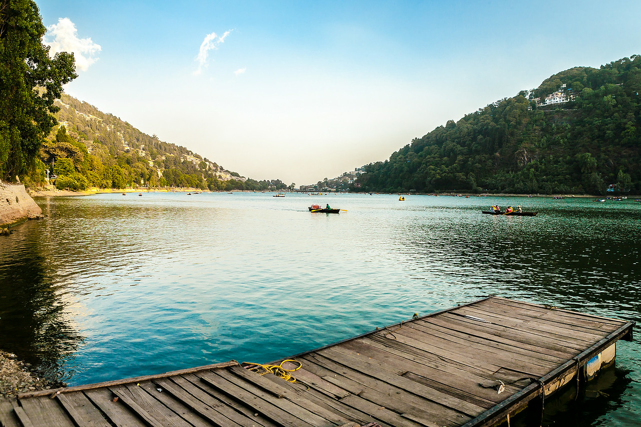 Boating at the Nainital lake, India