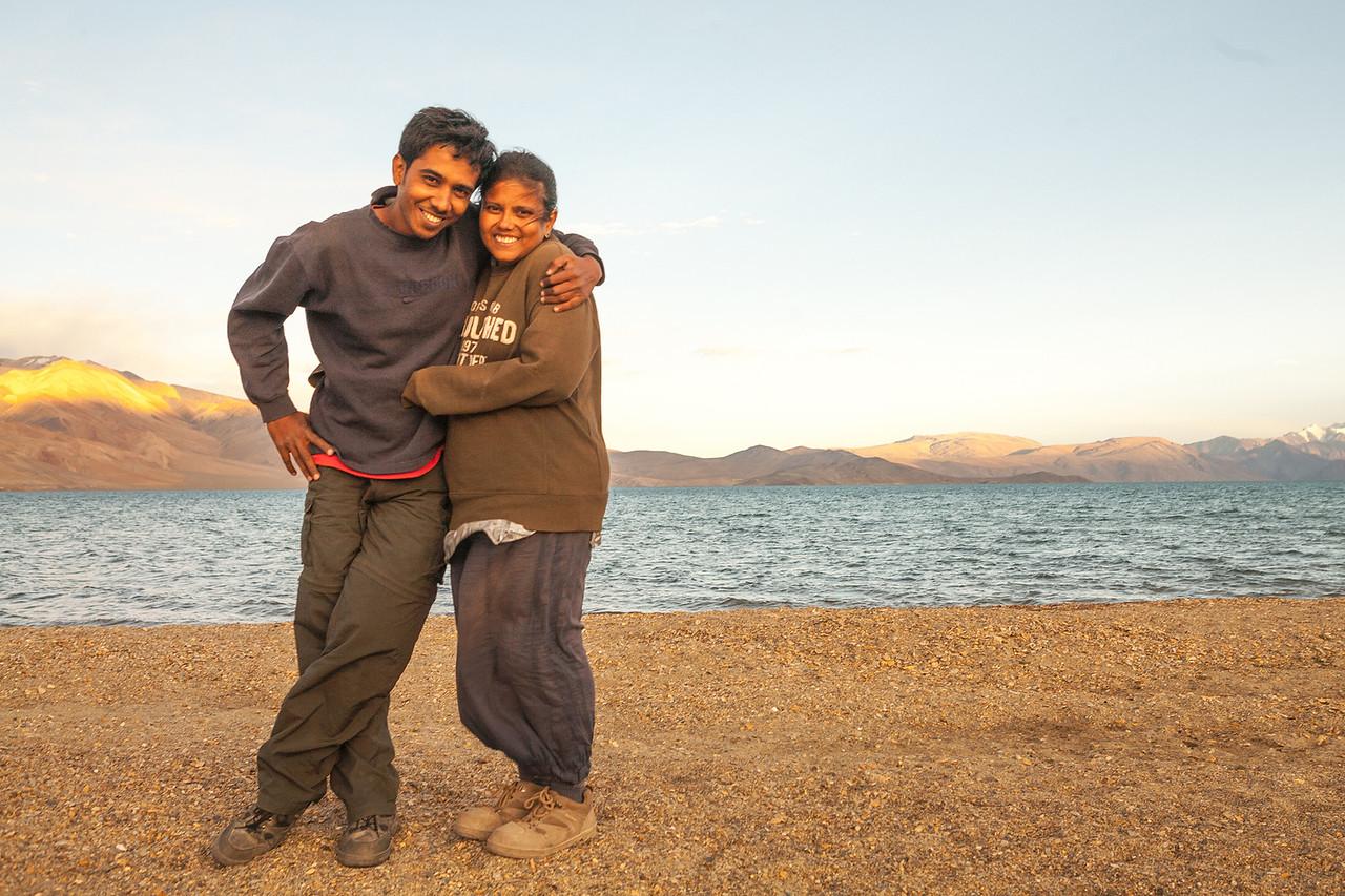 We are Chetan and Sandeepa at Tso Moriri, Ladakh, India