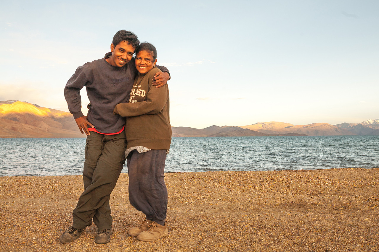 We are Chetan and Sandeepa at Tso Moriri, Ladakh, India