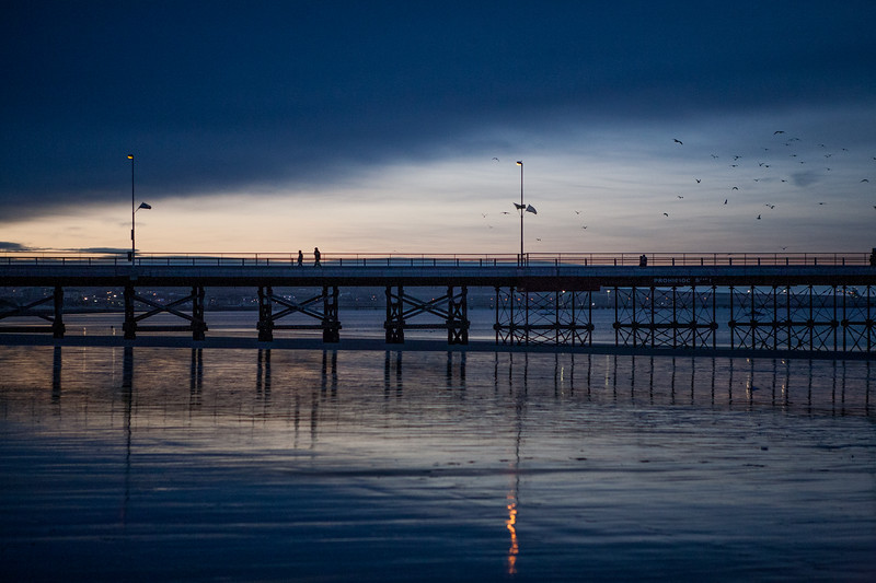 The pier at Puerto Madryn in northern Patagonia, Argentina