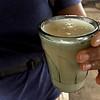 """A glass of """"jungle milk"""" - fermented yuca"""