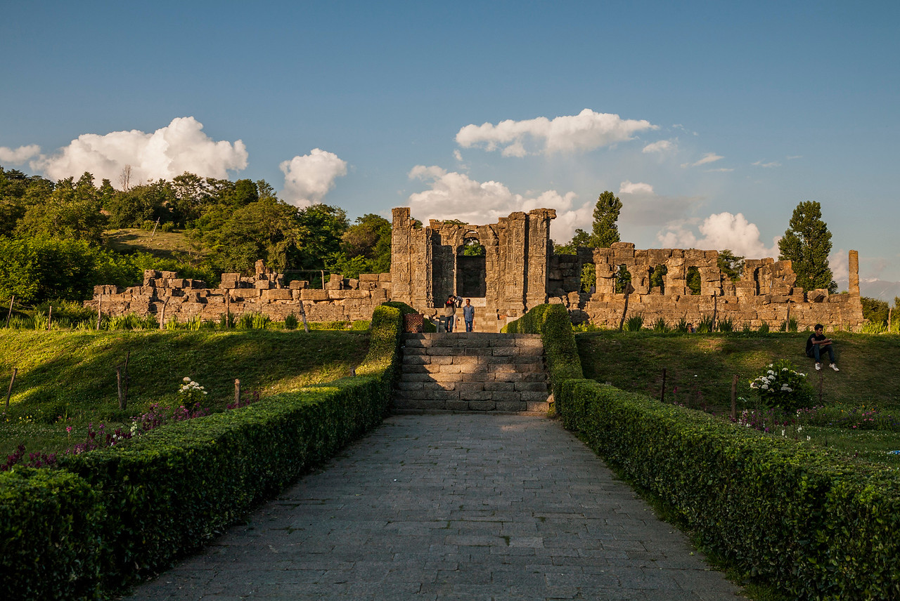 Ruins of the sun temple at Martand, Kashmir
