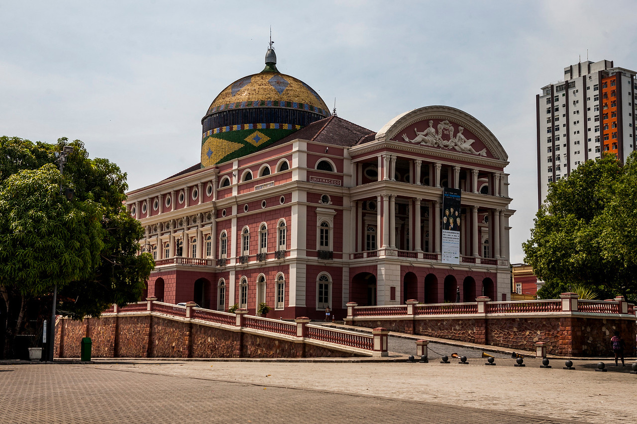 Teatro Amazonas, the famous opera theatre of Manaus, a major city in the Amazon forest, Brazil