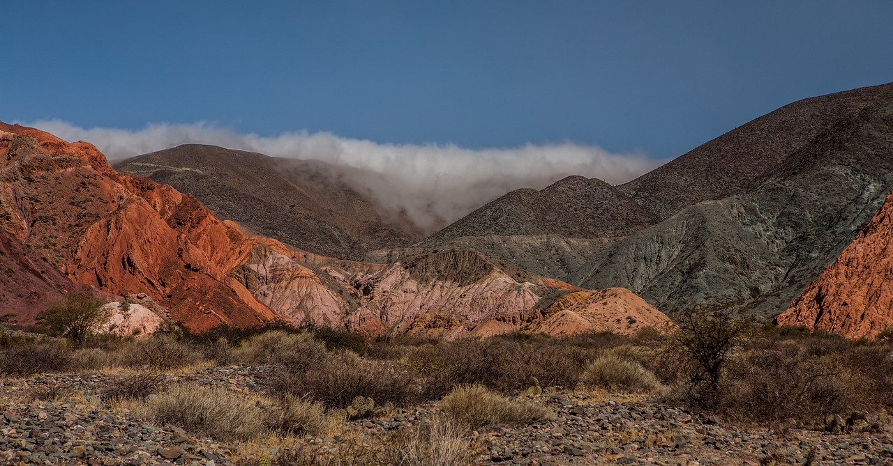 Mountain of the seven colours at Purmamarca in Jujuy province of northwest Argentina