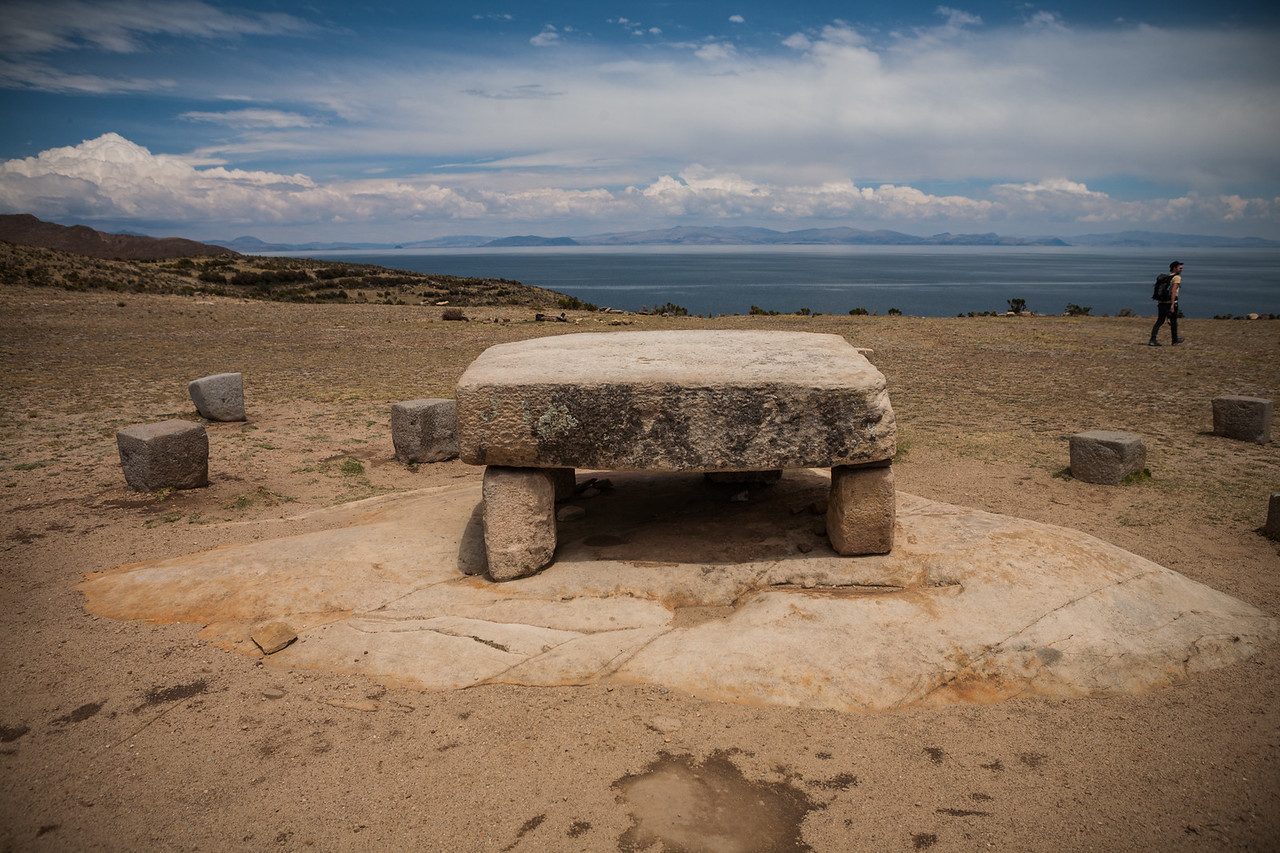 Incan table at Isla del Sol, Bolivia