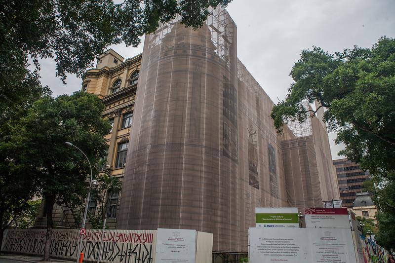 Biggest library in Latin America under maintenance, Rio de Janeiro, Brazil