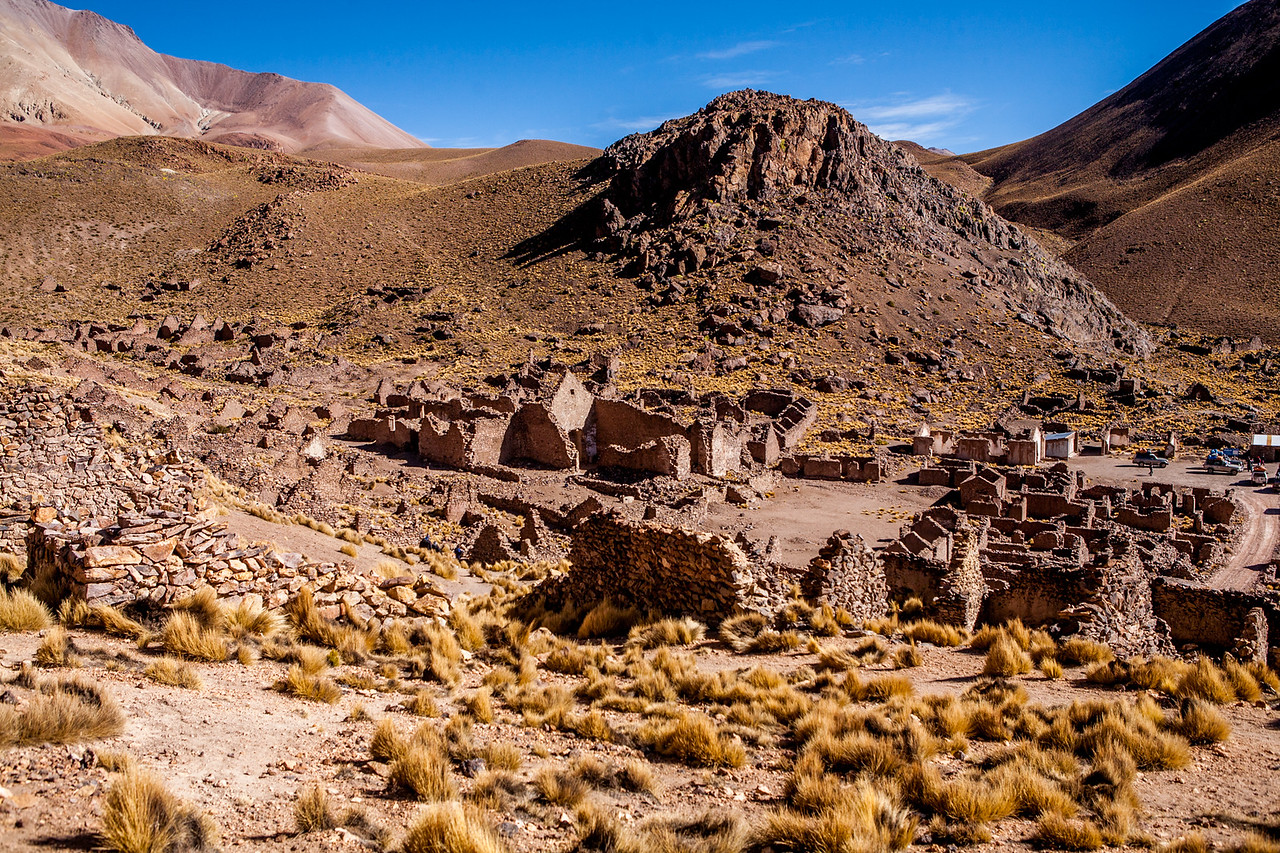 Pueblo Fantasmo - ghost town on the Salar de Uyuni tour, Bolivia