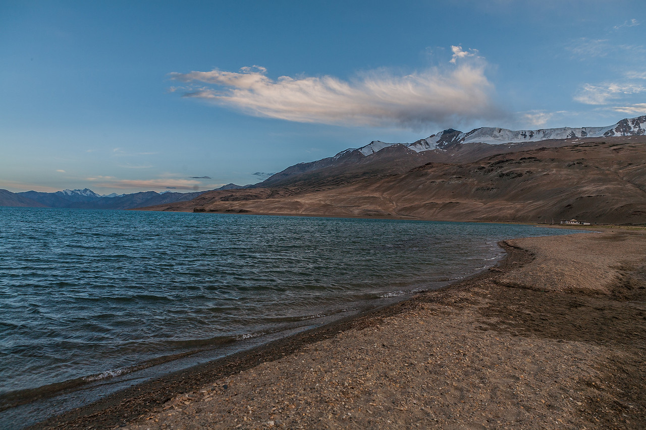 Tso Moriri, a mountain lake in Ladakh, India