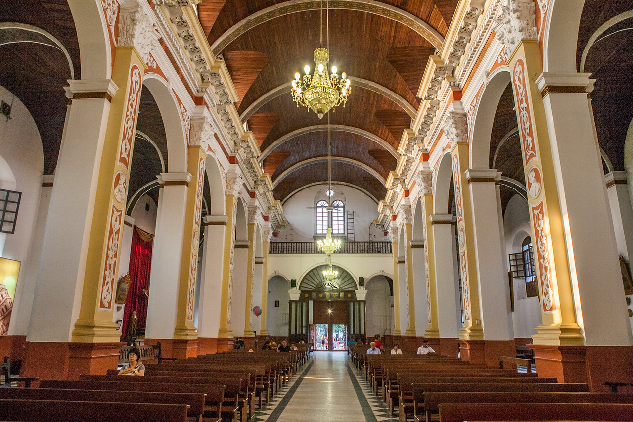 Interiors of the cathedral in Santa Cruz, Bolivia