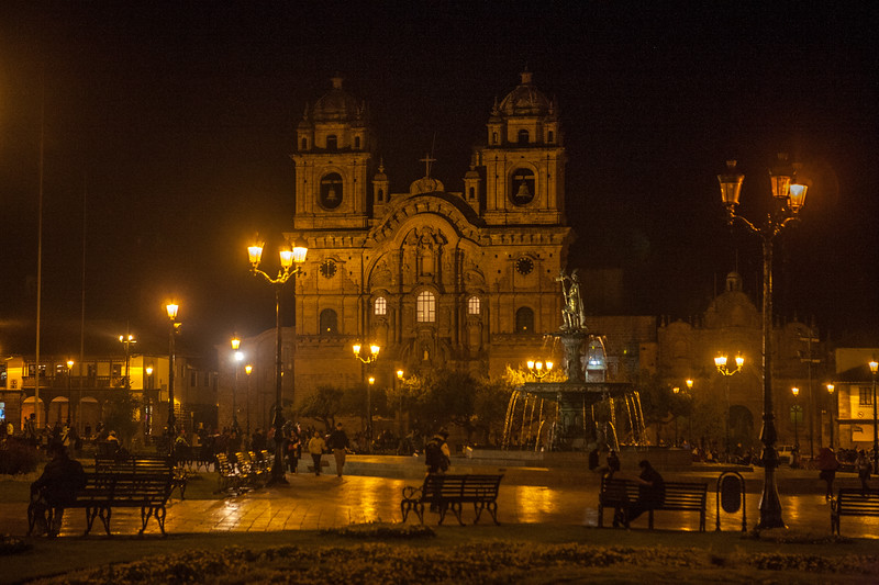 Plaza de Armas, main plaza of Cusco, Peru