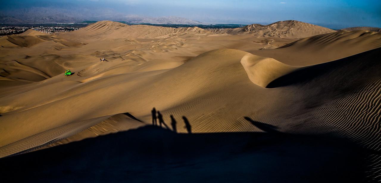 The desert of Huacachina near Ica, a city in Peru