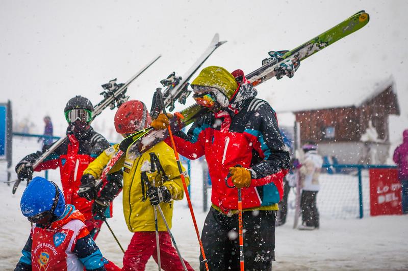 Skiers on Cerro Catedral, Bariloche, Argentina