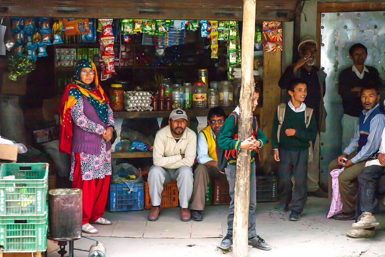 A shop in Sankoo, a village in Suru valley near Kargil, India
