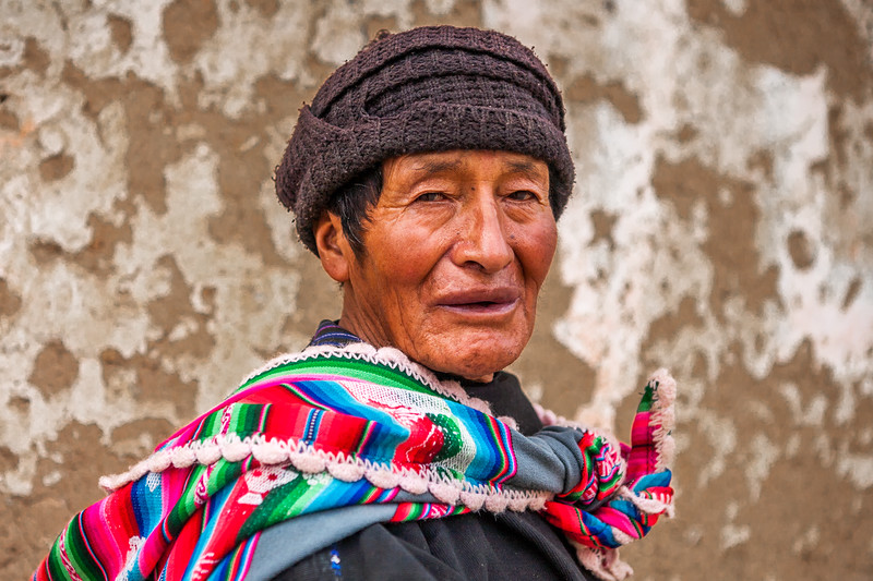Local man from the village Tarabuco, Sucre, Bolivia