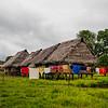 A village in the Amazon rainforest, Peru