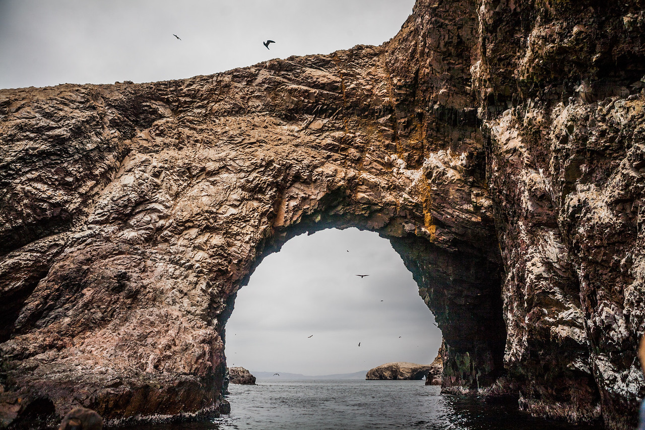 The arch which gives the islands the name Islas Ballestas in Peru