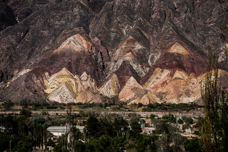 Mountain of the seven colours at Purmamarca in Jujuy province of northwest Argentina;