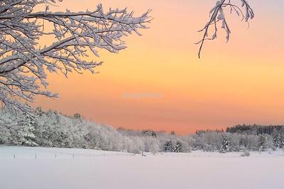 Sunset over Pilot Grove Farm, Stow, Massachusetts
