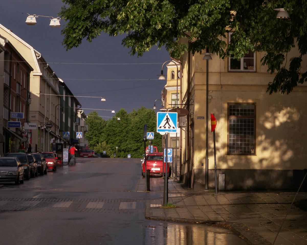 Storgatan/Hospitalsgatan, eastward. 2007 June 19 @ 19:38